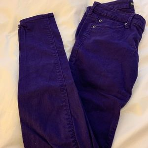 Express low rise purple jeans